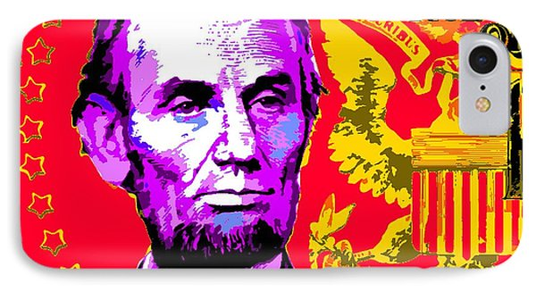 Lincoln Five Dollar-popart IPhone Case
