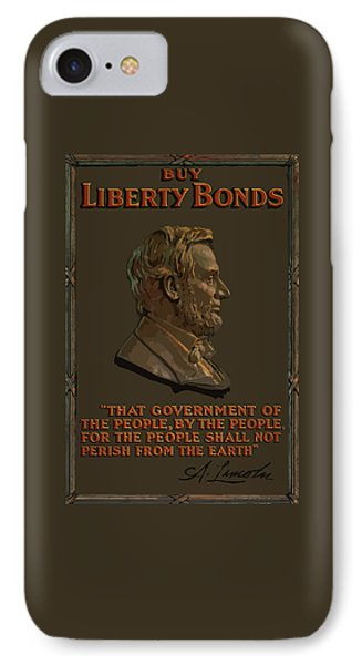 Lincoln Gettysburg Address Quote IPhone Case by War Is Hell Store