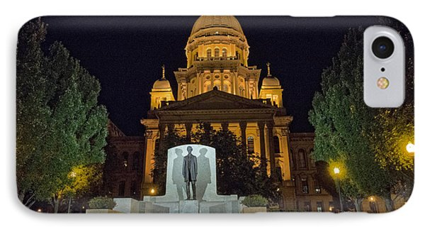 Lincoln In Springfield IPhone Case by David Bearden