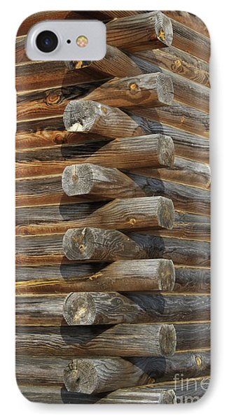 Lincoln Logs IPhone Case by Skip Willits