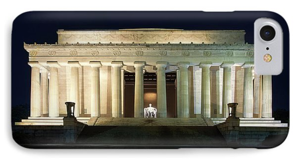Lincoln Memorial At Twilight IPhone 7 Case by Andrew Soundarajan