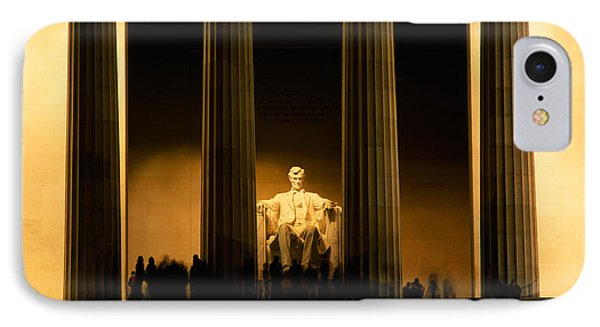 Lincoln Memorial Illuminated At Night IPhone 7 Case by Panoramic Images