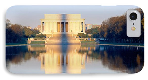 Lincoln Memorial In Shadow IPhone Case by Panoramic Images