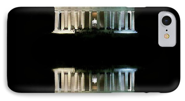 Lincoln Memorial IPhone Case by Lorella Schoales