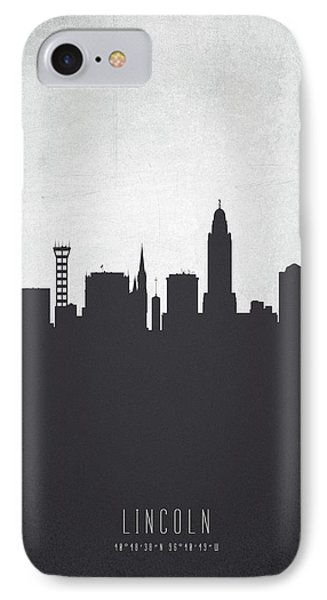 Lincoln Nebraska Cityscape 19 IPhone Case by Aged Pixel