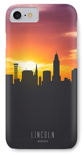 Lincoln Nebraska Sunset Skyline 01 IPhone Case