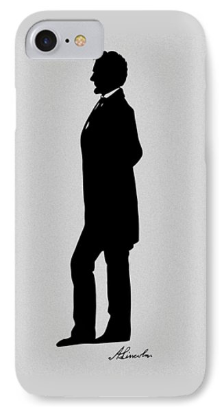 Lincoln Silhouette And Signature IPhone 7 Case by War Is Hell Store