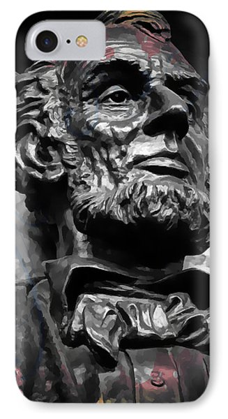 Lincoln Stoic IPhone Case by Daniel Hagerman