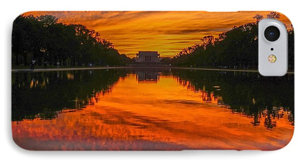 Lincoln Sunset IPhone Case by Christopher Duncan