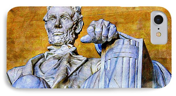 Lincoln Up Close IPhone Case by Alice Gipson