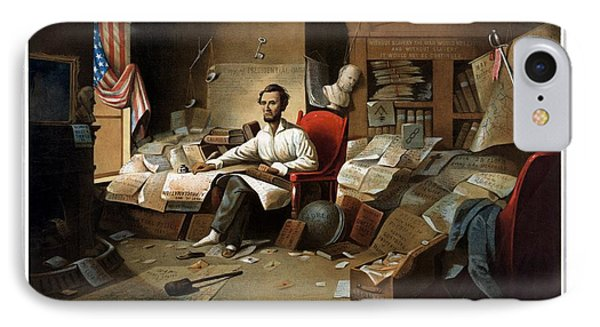 Lincoln Writing The Emancipation Proclamation IPhone 7 Case by War Is Hell Store