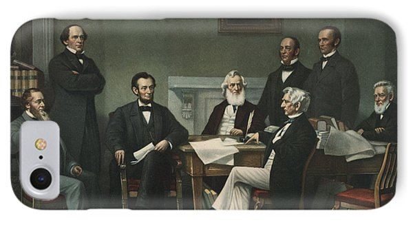 Lincoln's Cabinet IPhone Case