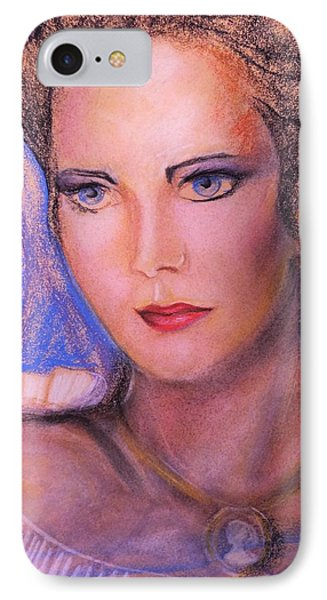 IPhone Case featuring the pastel Linda Carter by Denise Fulmer