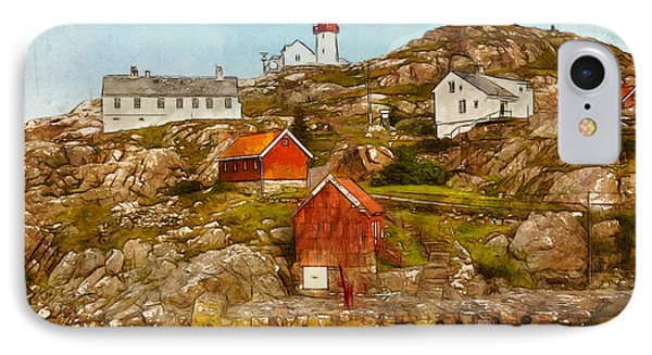Lindesnes Lighthouse IPhone Case by Kai Saarto