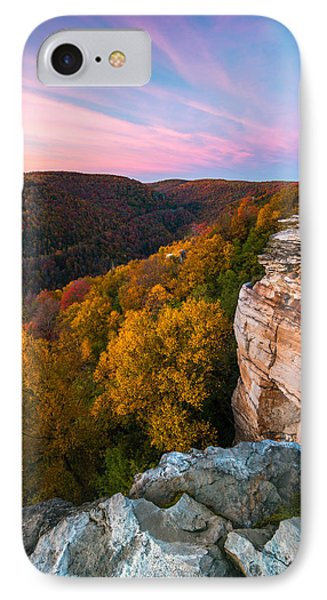 Lindy Point Overlook Fall Sunset IPhone Case by Rick Dunnuck