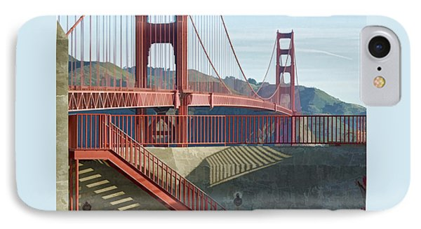 IPhone Case featuring the photograph Linear Golden Gate Bridge by Steve Siri