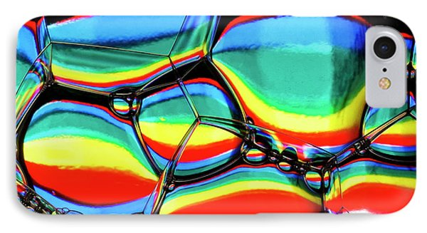 IPhone Case featuring the photograph Lined Bubbles by Jean Noren