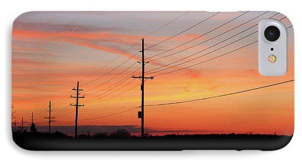 Lineman's Sunset IPhone Case by Rachel Cohen