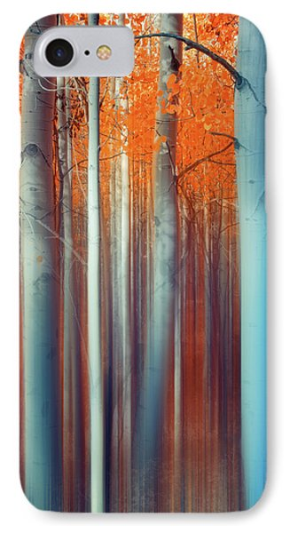 IPhone Case featuring the photograph Lines Of Autumn by John De Bord