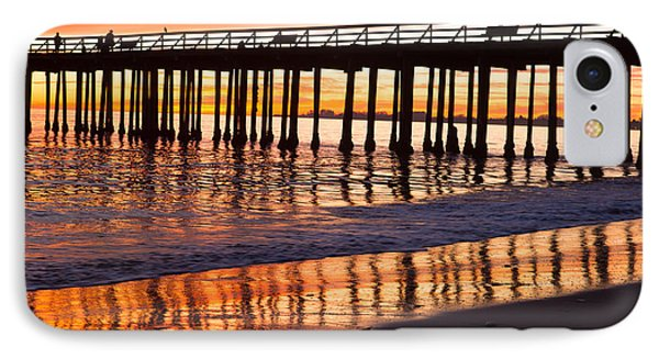 Sunset Seacliff Shadows IPhone Case by Lora Lee Chapman