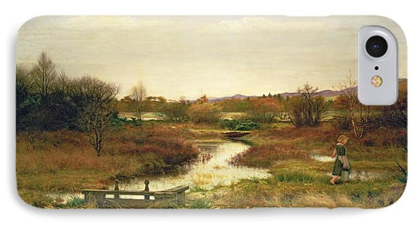 Lingering Autumn IPhone Case by Sir John Everett Millais