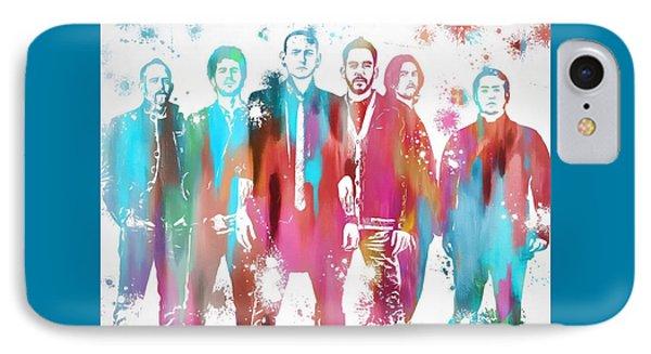 Linkin Park Watercolor Paint Splatter IPhone 7 Case by Dan Sproul