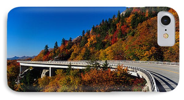 Linn Cove Viaduct Blue Ridge Parkway Nc IPhone Case by Panoramic Images