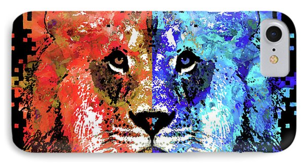 Lion Art - Majesty - Sharon Cummings IPhone Case by Sharon Cummings
