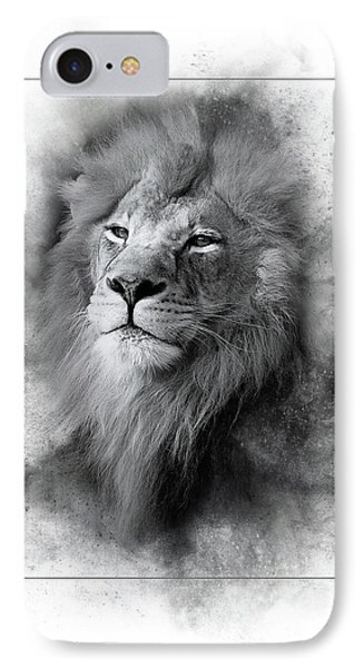 Lion Black White IPhone Case