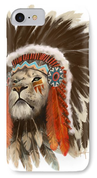 Lion iPhone 7 Case - Lion Chief by Sassan Filsoof