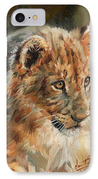 Lion Cub Portrait IPhone Case by David Stribbling