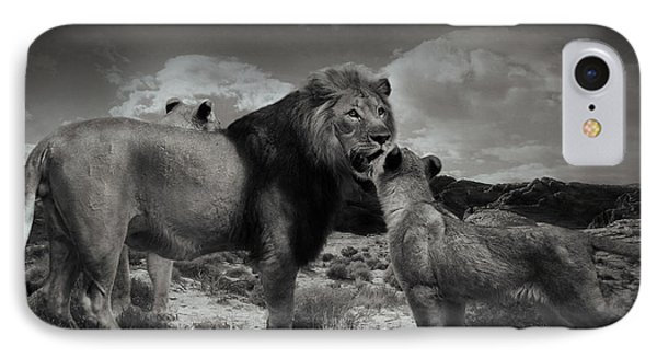 IPhone Case featuring the photograph Lion Family by Christine Sponchia