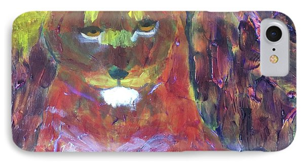 IPhone Case featuring the painting Lion Family Part 5 by Donald J Ryker III