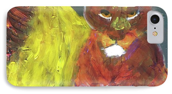 IPhone Case featuring the painting Lion Family Part 6 by Donald J Ryker III