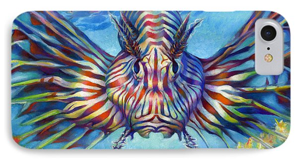 Lion Fish Phone Case by Nancy Tilles