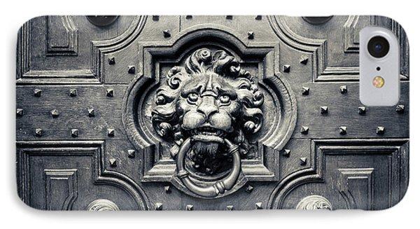 Lion Head Door Knocker Phone Case by Adam Romanowicz