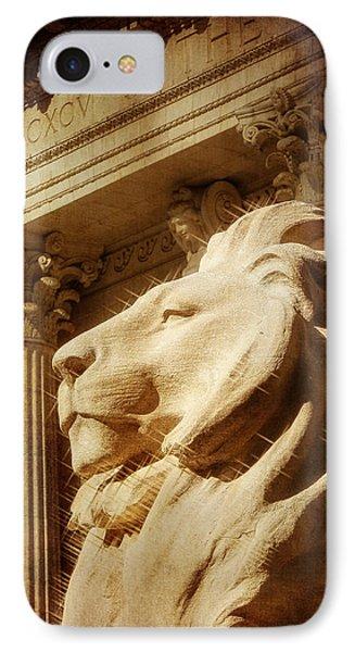Lion In The Sun IPhone Case by Jon Woodhams