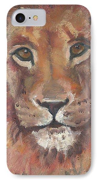 Lion IPhone Case by Jessmyne Stephenson
