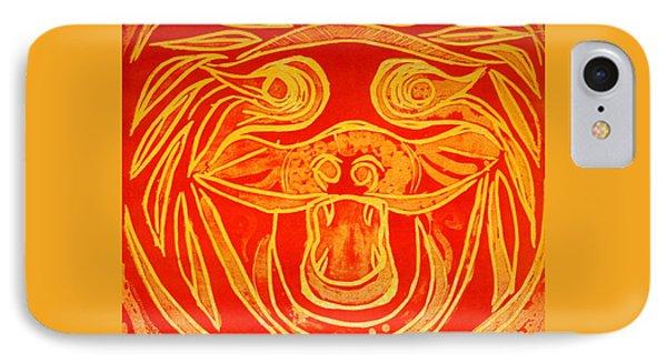 Lion Mask IPhone Case by Jane Gatward
