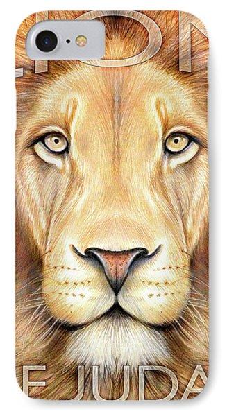 Lion Of Judah IPhone Case by Greg Joens