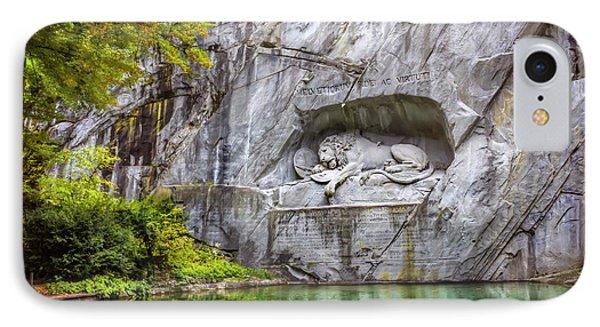 Lion Of Lucerne IPhone Case by Carol Japp