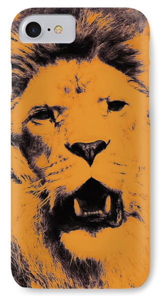 Lion Pop Art Phone Case by Angela Doelling AD DESIGN Photo and PhotoArt