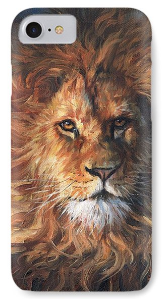 Lion Portrait IPhone Case by David Stribbling