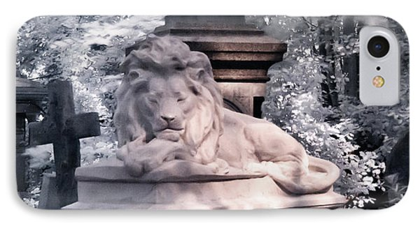Lion Sleeping In The Shade IPhone Case by Helga Novelli