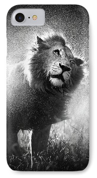 Lion Shaking Off Water IPhone Case