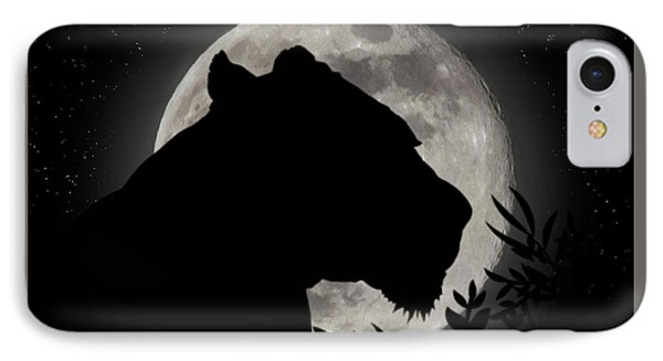 Lion Silhouette IPhone Case by Brian Wallace