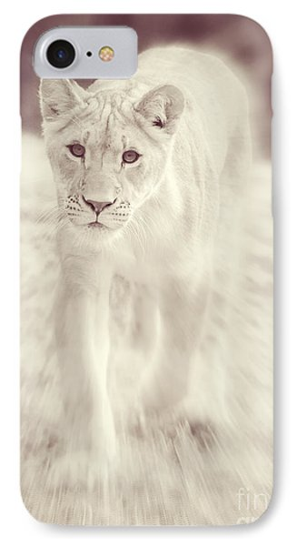 IPhone Case featuring the photograph Lion Spirit Animal by Chris Scroggins