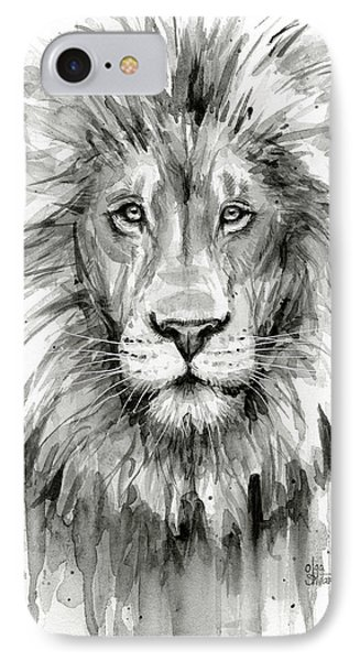 Lion Watercolor  IPhone Case by Olga Shvartsur