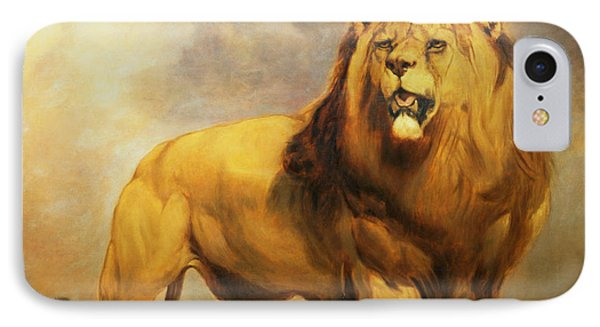 Lion  IPhone 7 Case by William Huggins