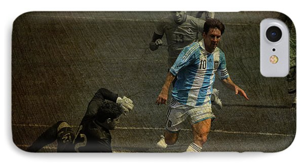 Lionel Messi Breaking Raphael Cabrals Ankles  Phone Case by Lee Dos Santos